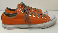 Converse All Star Chuck Orange with Gray Low Top Sneakers Shoes Mens US 13