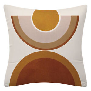 """PILLOW COVER Rainbow Brown White 2-Sided Abstract Decorative Cushion Case 18x18"""""""