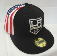 Los Angeles Kings Men's New Era Flag Slice 59FIFTY Fitted 7 1/2 Cap Hat