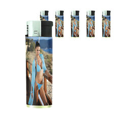 Italian Pin Up Girl D8 Lighters Set of 5 Electronic Refillable Butane