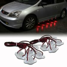Strands Under Car Red Brabus Style 90-LED Puddle Lights Underglow Kit Universal