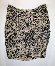 BARKINS Brand Animal Print Side Cowl Pockets Skirt Size 14 BNWT #SC98