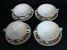 "Wedgwood of Etruria & Barlaston England Rust ""SURREY"" Cream Soup Bowls/Set of 4"