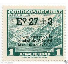 Chile 1974 #842 Centenario Ciudad Viña del Mar Sobre cargado MNH