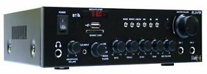 E-Lektron EL5-FB HiFi Stereo Class-D Verstärker Bluetooth FM-Radio USB Karaoke