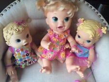 Lot Of 3 Baby Alive Dolls Talk Eat Pee Kick Ice Cream 2009 2012 2014