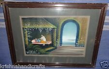 VINTAGE OLD COLLECTIBLE HAND MADE MINIATURE PAINTING OF LORD KRISHNA NATHDWARA