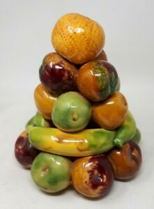 Large Colourful Still Life Ceramic Pottery Fruit Display 24 x 21 cms