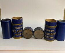 Edison blue amberol cylinder records Set Of 2