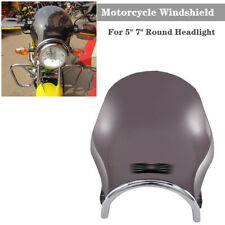 """Retro Round 5"""" 7"""" Headlight Motorcycle Front Windshield Block Airflow Protective"""