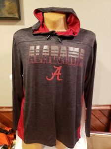 SWEET Alabama Crimson Tide Men's XL Colosseum Grey&Red Hooded Shirt, NEW&NICE!!