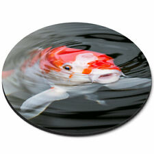 Round Mouse Mat - Pretty Koi Carp Fish Pond Office Gift #16427