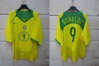 Maillot BRESIL BRAZIL 2004 2006 NIKE CBF jersey shirt RONALDO n°9 BRASIL XXL