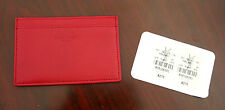 Authentic YSL Yves Saint Laurent Red Leather Card Case Holder Wallet - MSRP $275