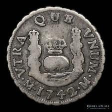 .: Mexico Felipe V -  1 Real 1742 M - Columnaria :.