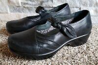 Dansko Mary Jane Ainsley Shoes Womens 38 US 7.5 / 8 Black Leather Comfort Wedge