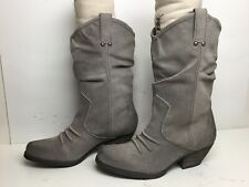 WOMENS BCBGENERATION COWBOY SUEDE GRAY BOOTS SIZE 10 B