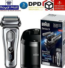 Braun Series 9 9095cc Electric Shaver Men Rechargeable Wet Dry Beard Silver New