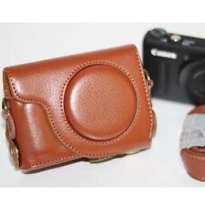 Ever Ready Camera PU Leather Bag Case Cover For Canon S100 S110 S120 S200 Brown