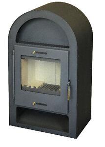Kaminofen Bavaria1 gussgrau von ST-AD, 7,5  kW, für Holz und Kohle geeignet