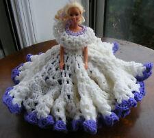 Barbie Doll Wearing Handmade Crochet Dress Outfit