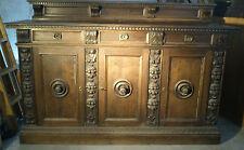 MOBILE CREDENZA ANTICA PRIMI 900 IN LEGNO NOCE SCURO decorazioni stile 600