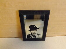 Black Wood Framed Humphrey Bogart Picture Mirror