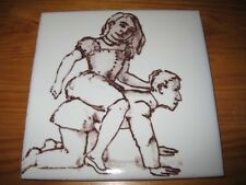 PORTUGAL PORTUGUESE PAULA REGO 1990s EDTI BOYFRIEND CERAMIC TILE CARREAU FLIESE