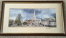 Norfolk Artist Andrew Dibben Framed Signed Print Norwich Cathedral