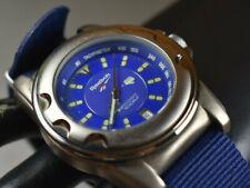 REEBOK Men's Sport 100M Watch Blue Dial/Band Stainless Steel NEW BATTERY!