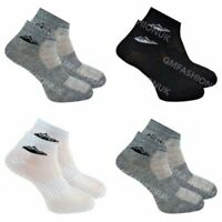 3 Pairs Mens Trainer Liner Quarter Low Gym Run Sports Socks Cotton Rich UK 6-11