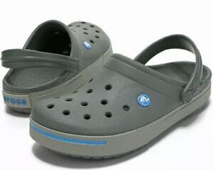Crocs Crocband II Clog Gray Blue Men's Size 13 [11989-01W] NEW