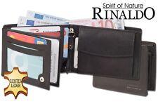 * Geldbörse Rinaldo Double-Coin Riegelgeldbörse aus Rindsleder in Schwarz