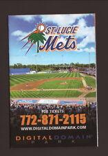 St Lucie Mets--2012 Pocket Schedule--Budweiser