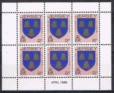 Jersey postfris 1986 MNH vel/sheet 244 - Wapenschild (S0717)