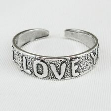 """I LOVE YOU"" Toe Ring in SOLID 925 Sterling Silver- NEW - Made in the USA!"