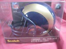 St. Louis Rams  Mini Helmet Official NFL Scotch Tape Dispenser GREAT COLLECTIBLE