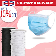 100m/200m/250m Round Elastic String Black White Face Covering Sewing Clothing