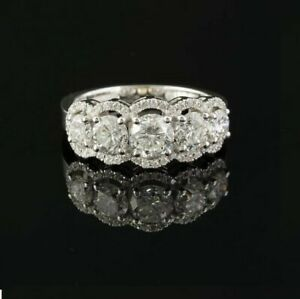 3Ct White Round Diamond Engagement Wedding Band Ring Solid 925 Sterling Silver