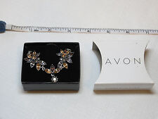 Ladies Womens Avon Sparkling Floral Necklace silvertone F3463221 NIP;;