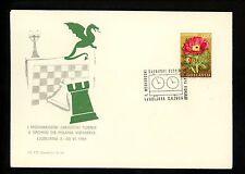 Postal History Yugoslavia Scott #973 Chess Clock Pictorial 6/2/1969 Ljubljana