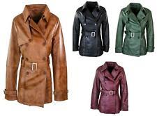 Women Superior Leather Biker Jacket Coat Vintage Retro Design