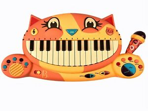 B Toys Meowsic Cat Muscical Keyboard Piano Microphone, Music Toy Tested, Working