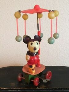 Estate Find-Vintage Wind-Up Mickey Mouse Carousel