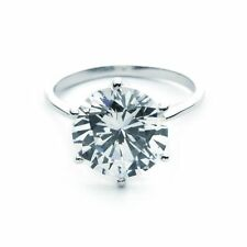 Cubic Zirconia Silver Plated Solitaire Fashion Rings