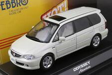Ebbro 43270 1:43 Scale 2002 Honda Odyssey Absolute (RA6) Die Cast (Pearl White)