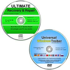 Recovery & Repair + Treiber DVD für Windows 10, 8, 7, XP      ✔ 2er CD/DVD Set