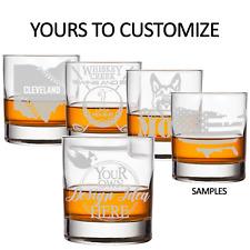 Custom Whiskey Glasses, Any logo or design, Personalized Gift