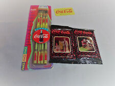 Coca Cola Christmas Santa Collector Cards plus Pencils