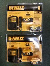 Two Dewalt Dcb205-2Ck 5Ah Li-Ion Dcb115 4 Batteries Battery 2 Chargers Kit 20V